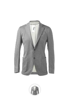 MAN SUIT GRAY